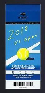 2018 US OPEN TENNIS TICKET STUB BOOK - 15 TICKETS - SERENA WILLIAMS NAOMI OSAKA