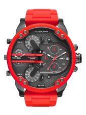 DZ7370 Mr DaddyDiesel Multiple Chronograph Red Silicone Men's Watch 55mm