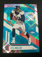 2017 Unparalleled Football Aqua #21 Von Miller Denver Broncos /25