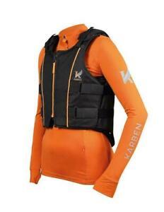 Shires Karben Childs Horse Riding Body Protector Black/Orange