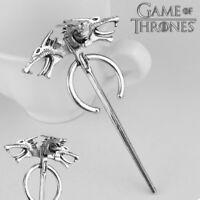 Game of Thrones inspired Daenerys Targaryen Dragon Brooch Pin Cosplay Badge Gift