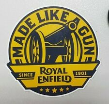 """Custom Made ROYAL ENFIELD """"Made Like A Gun Since 1901"""" Sticker Decal Pack of 6"""
