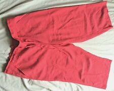 Ladies bright coral wide leg trousers 12