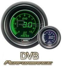 Prosport 52mm EVO Car Oil Pressure Gauge BAR LCD Digital Display Green and White