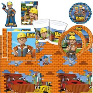 Bob The Builder Party Supplies Tableware, Decorations, Balloons and Bags
