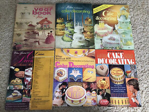 Lot of 6 Wilton Cake Decorating Yearbooks from 1970s (70s)