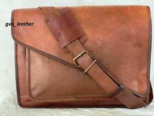 Laptop Bag Vintage Genuine Magnetic Closer Leather Messenger Satchel Briefcase
