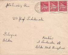 * SURFACE MAIL - France Marseille -> Poland - s/s Kosciuszko Paquebot Postm.1935