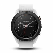 Garmin Approach S60 GPS Golf Watch with White Silicone Band 010-01702-01