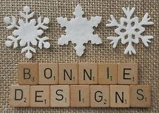 Vrac x54pcs senti flocons de neige blanc mélangé die cuts appliqué Noël Advent mic