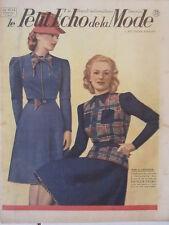Le Petit Echo de la Mode N° 14  du 07/04/1940 Art Déco Journal Naissance