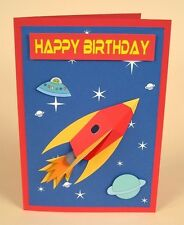 A4 Card Making Templates - 3D Space Rocket Card by Card Carousel