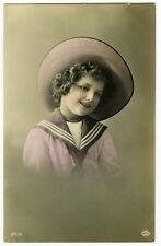 c 1914 Children Child Smilng SAILOR SUIT KID antique photo postcard