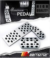 AUTO ALUMINUM LHD PEDAL SET GAS BRAKE FOOTREST for 2006-2013 MAZDA 3 MAZDA3 A/T