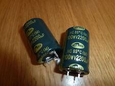 2 Condensatori Elettrolitici 2200uF 100V PSU 85 Gradi