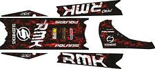 POLARIS RUSH PRO RMK  ASSAULT 120 144 155 163 TANK & TOP TUNNEL DECAL splatter b
