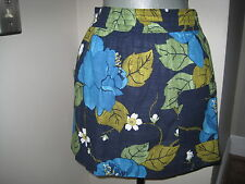 ABERCROMBIE & FITCH  Navy Floral Print Patch Pocket LOGO Skirt  Sz LARGE  NWT