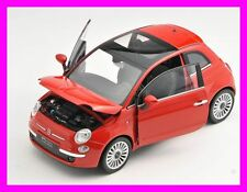 Spedizione LAMPO FIAT 500 2007 ROSSO/RED Welly Modello Auto 1:24 NUOVO & OVP 22514