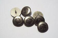 8pc 15mm étain allemand métallique de style militaire blazer manteau cardigan bouton 2868