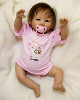 "Real Life Like Looking 20"" Vinyl Soft Silicone Reborn Newborn Baby Dolls Cute"