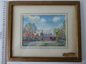 ANTONY DRACUP WATERCOLOUR 1967 KENSINGTON PALACE ROYAL PALACE KENSINGTON SIGNED