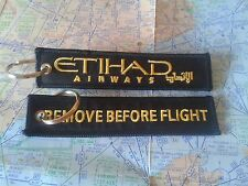Etihad airways remove before flight keyring keychain UAE Abu Dhabi
