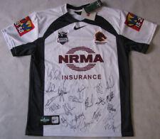2011 Brisbane Broncos Away Jersey Hand Signed   LOCKYS LAST YEAR *BUY GENUINE*