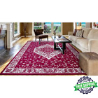 Jefferson Collection Pearl Heriz Red 5 Ft. X 7 Ft. Medallion Area Rug