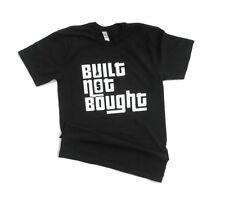 Built not bought shirt car racing mechanic mens medium tshirt