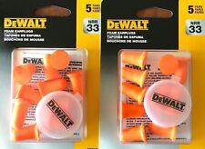 Dewalt Dpg63 Bell Shape Disposable Foam Earplugs 10 Pairs