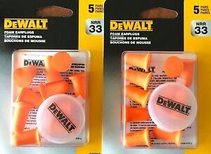 DEWALT DPG63 Bell Shape Disposable Foam Earplugs ( 10 Pairs )