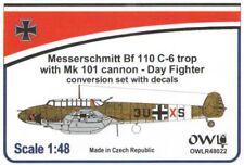 Hibou 1/48 MESSERSCHMITT Bf-110C-6 avec Mk 101 jour Fighter Conversion Set avec dec