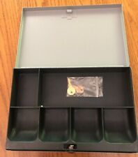 Secure Master Steel Locked Cash Box With Money Tray Drawer Locked With 2 Keys