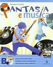FANTASIA E MUSICA - 3 VOLUMI con 3 DVD R.CASTELLO MINERVA SCUOLA