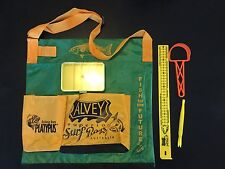 Alvey wading bag Green alvey ruler and scaler & hook remover & Yellow Tackle Box