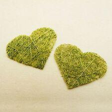 Coeur abaca x 24 menthe. Décoration de mariage