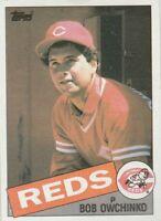 FREE SHIPPING-MINT-1985 Topps #752 Bob Owchinko Reds PLUS BONUS CARDS