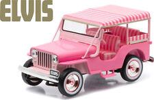 GREENLIGHT 1:43 ELVIS PRESLEY - 'Blue Hawaii' - 1960 Jeep Surrey CJ3B - Pink