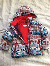 Winter girls jacket 4-5 patterned