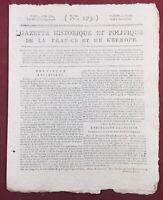 Fougères en 1795 Chouans Dol de Bretagne Argentré Châtillon Vendée Constitution