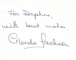 Glenda Jackson autographed signature on card with COA UACC Reg Dealer