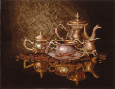 Counted Cross Stitch Kit MAKE YOUR OWN HANDS K-22 - Coffee service
