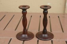 PAIR OF GEORGIAN MAHOGANY CANDLESTICKS
