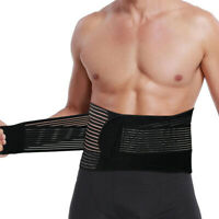 Neoprene Deluxe Belt Pain Relief Double Pull Lumbar Lower Back Support Brace New