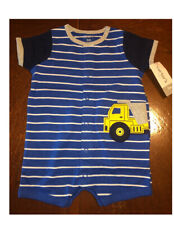 Carter's Baby Boy Romper Blue And yellow truck 3 Months