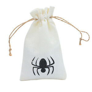 Drawstring Bags Linen Jewelry Pouches Gift Bags Candy Snack Bags Halloween