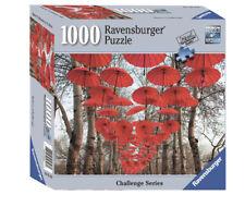 New Sealed Ravensburger 1000 Piece Jigsaw Puzzle Umbrella Challenge Red