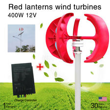 12V 400W Vertical Axis Wind Turbine Generator Red Lantern 5 Blade+Controller MWT