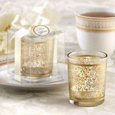 10x Golden Renaissance Glass Tea Light Candle Holder Vintage Wedding Favor Party