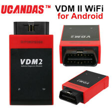 New UCANDAS VDM2 OBD2 All System Diagnostic Tool WiFi For Android Free Update US